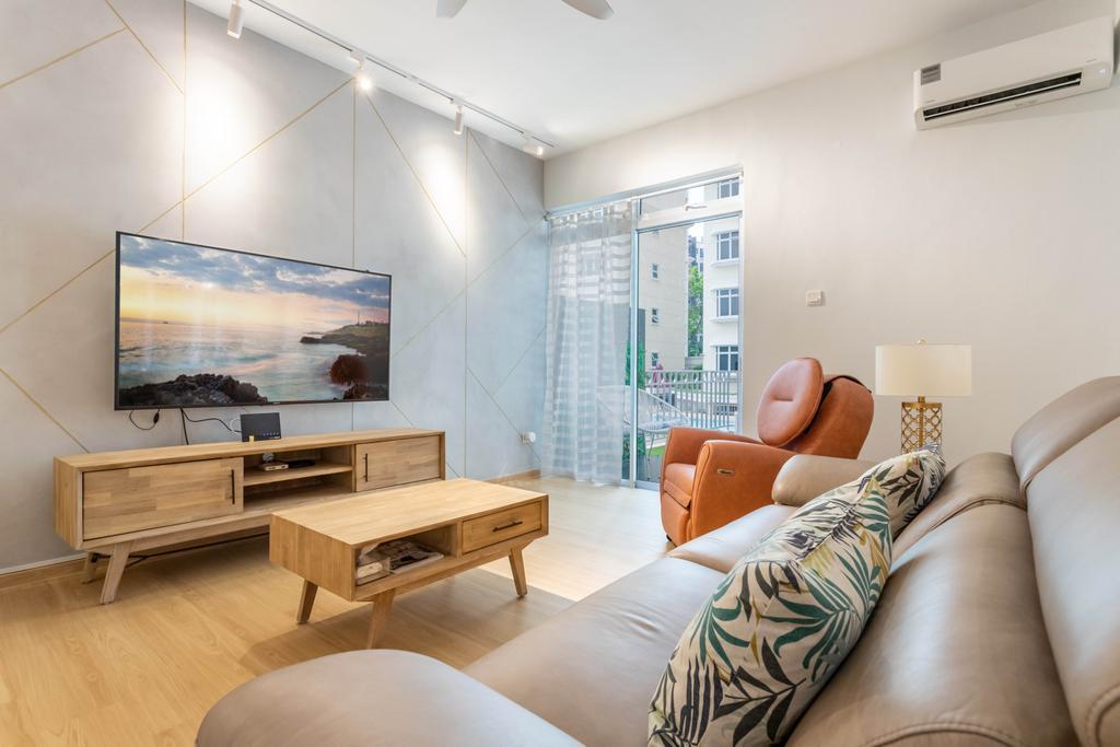 Scandinavian, Condo, Living Room, Hillview 128, Interior Designer, Design 4 Space
