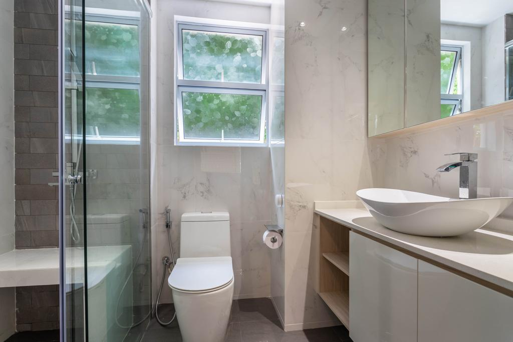 Scandinavian, Condo, Bathroom, Hillview 128, Interior Designer, Design 4 Space