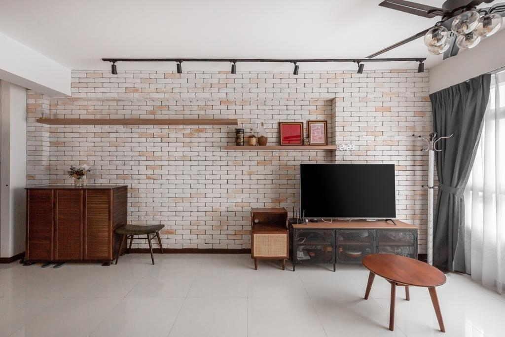 Industrial, HDB, Living Room, Circuit Road, Interior Designer, Swiss Interior Design, Modern