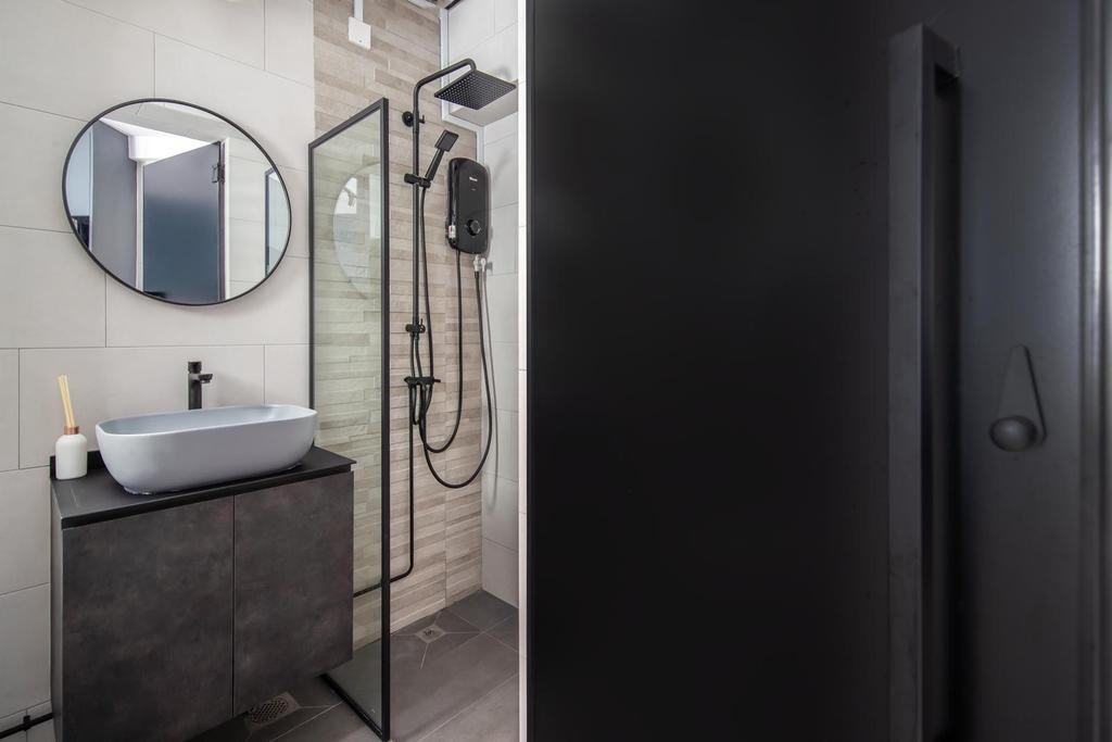 Industrial, HDB, Bathroom, Anchorvale Drive, Interior Designer, Swiss Interior Design, Scandinavian