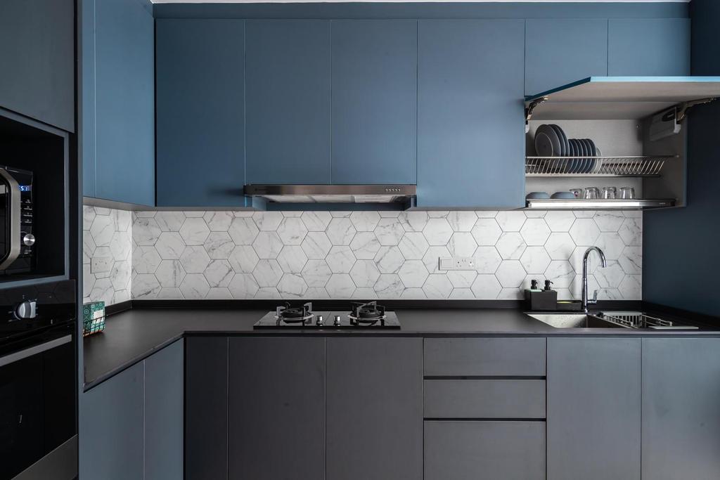 Industrial, HDB, Kitchen, Anchorvale Drive, Interior Designer, Swiss Interior Design, Scandinavian