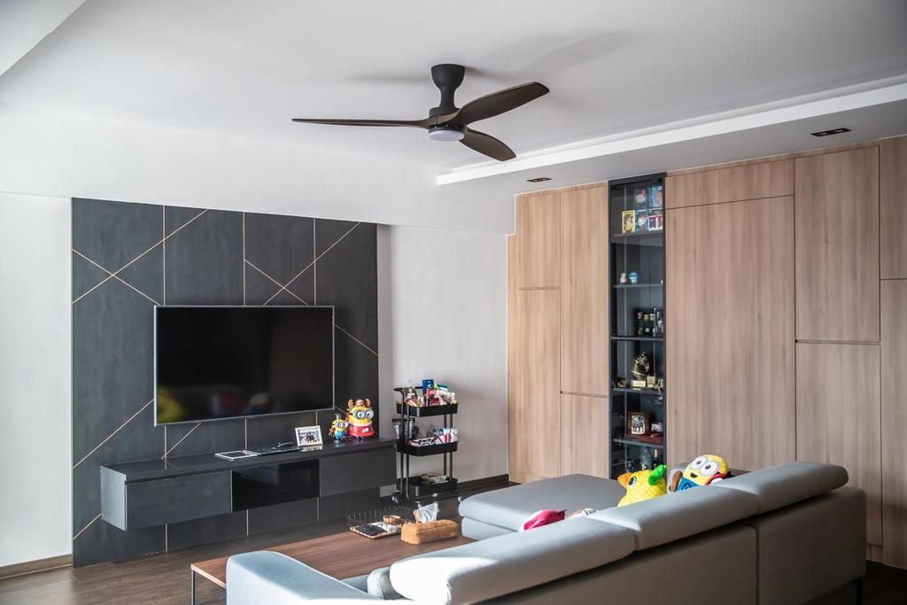 Industrial, HDB, Living Room, Anchorvale Drive, Interior Designer, Swiss Interior Design, Scandinavian