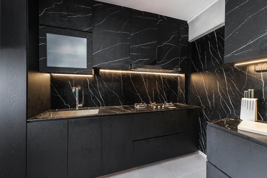 Contemporary, HDB, Kitchen, Yishun Ring Road, Interior Designer, Swiss Interior Design
