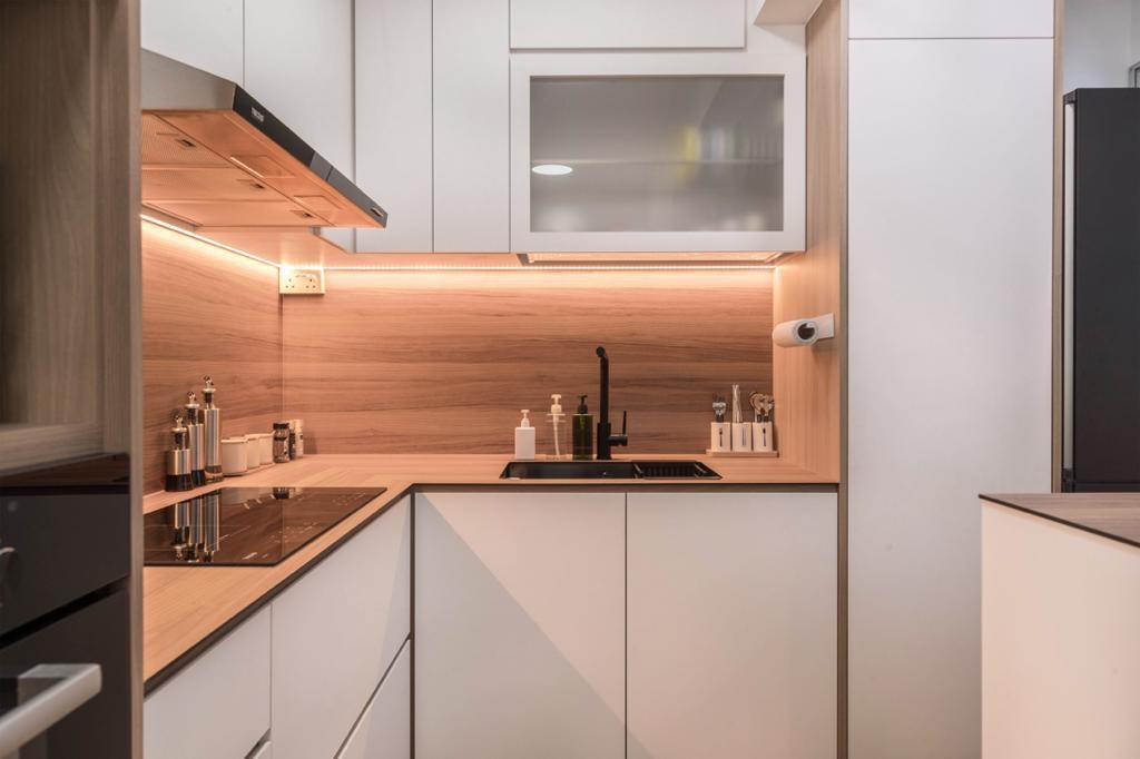 Contemporary, HDB, Kitchen, Anchorvale Lane, Interior Designer, Swiss Interior Design, Scandinavian