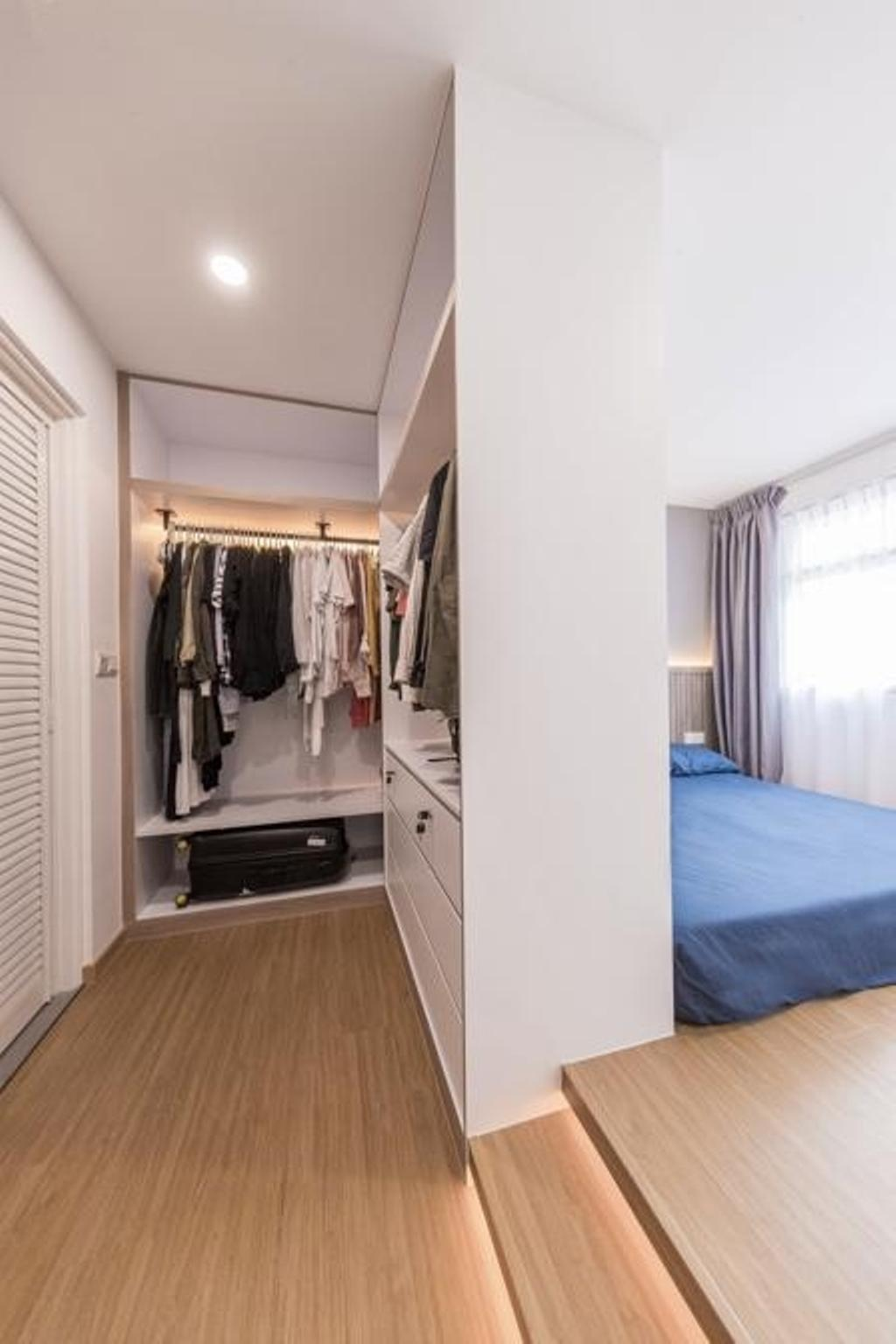 Contemporary, HDB, Bedroom, Anchorvale Lane, Interior Designer, Swiss Interior Design, Scandinavian