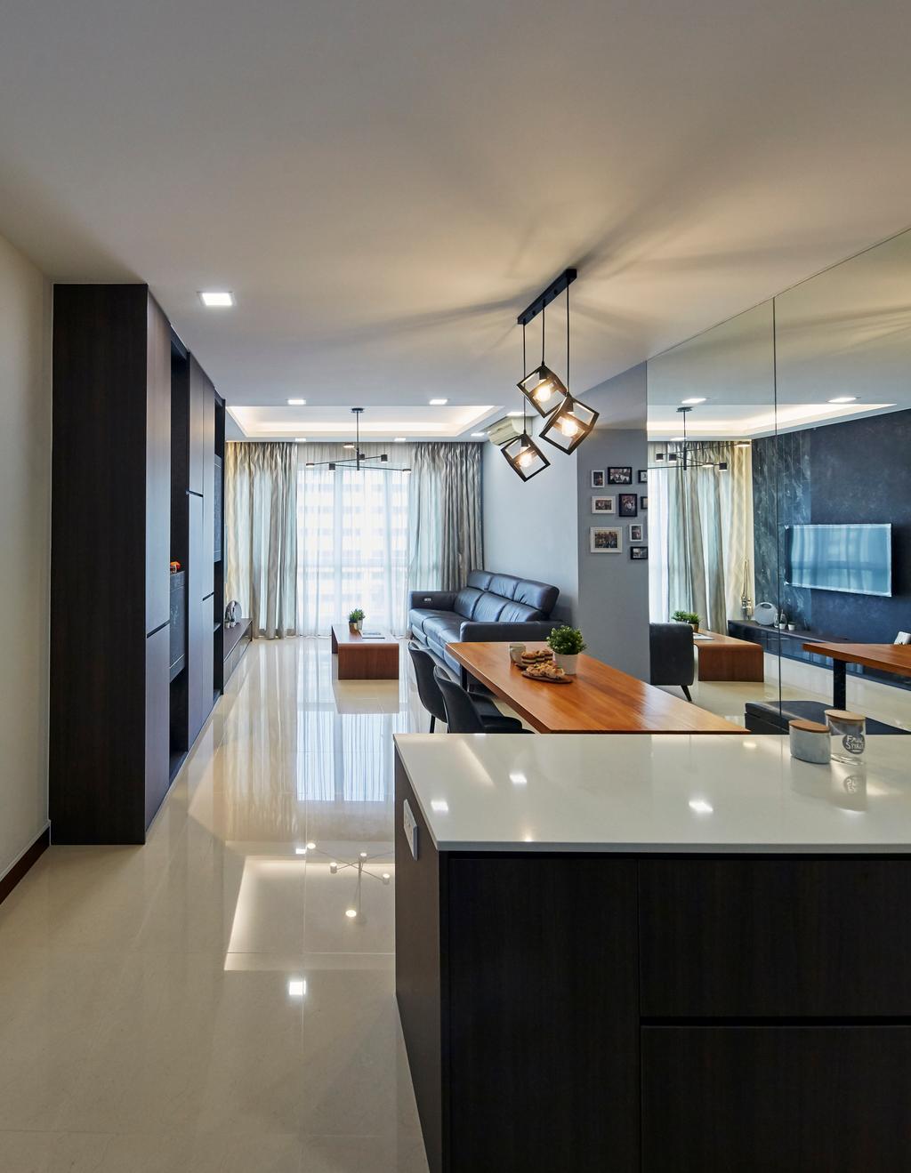 Modern, Condo, Living Room, La Casa, Interior Designer, SHE Interior, Contemporary