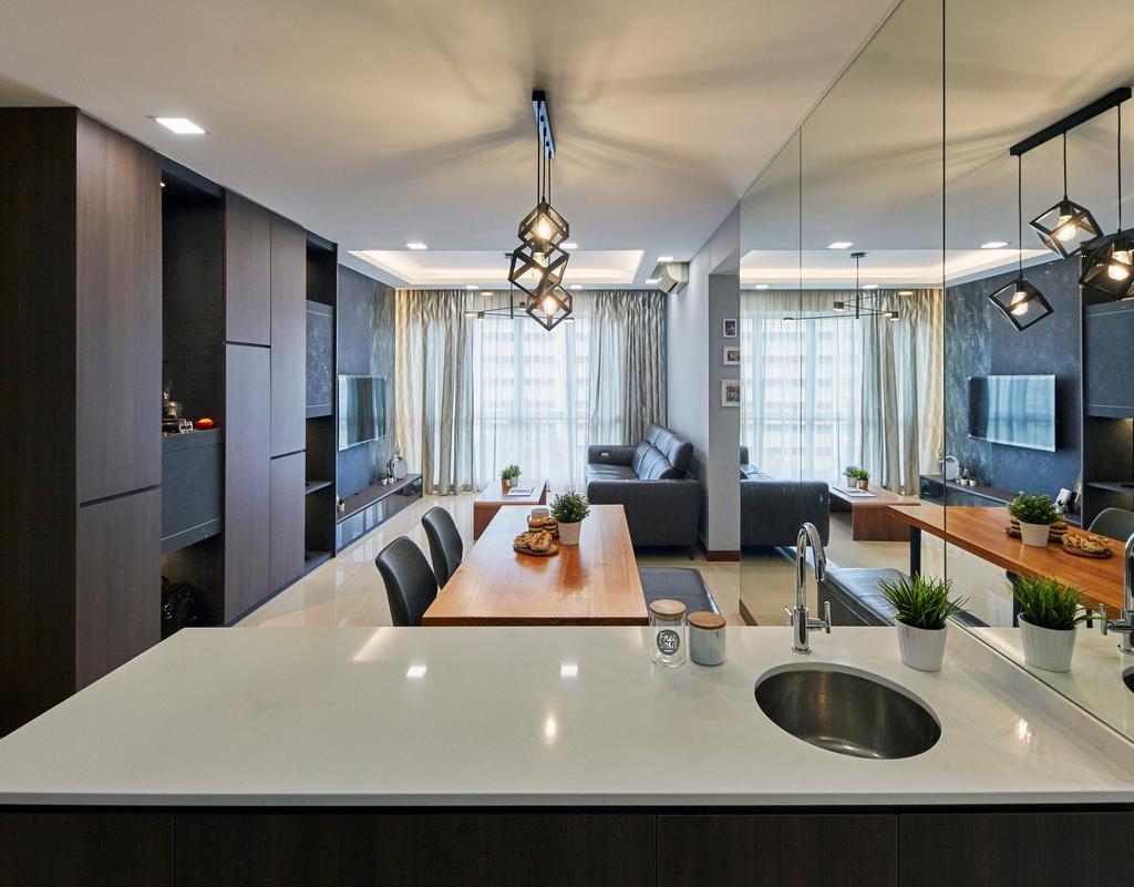 Modern, Condo, Dining Room, La Casa, Interior Designer, SHE Interior, Contemporary