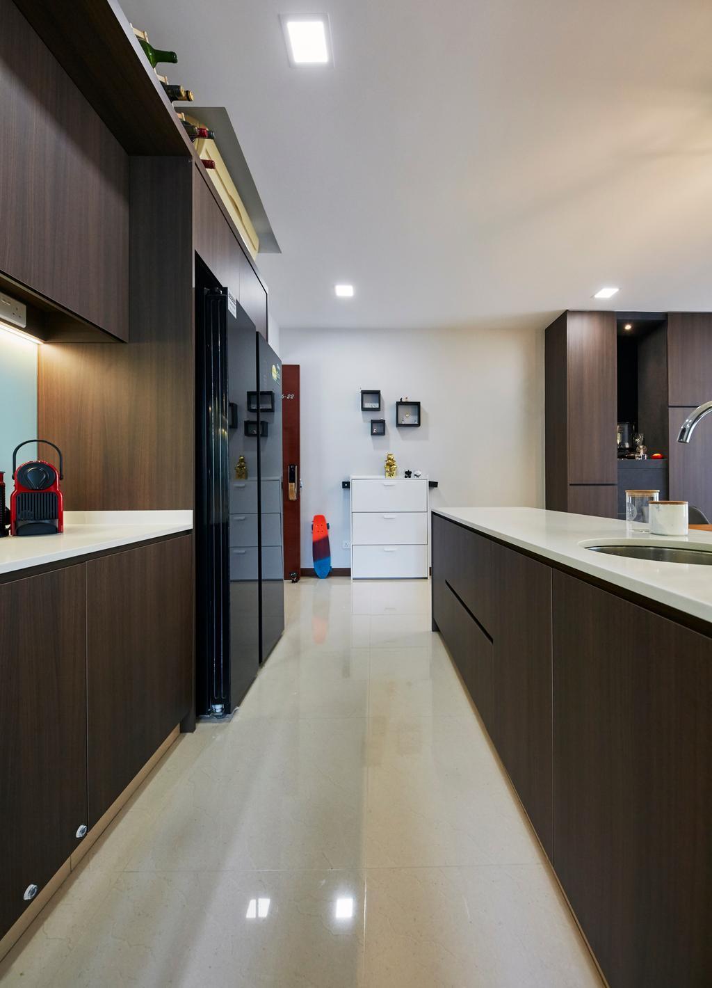 Modern, Condo, Kitchen, La Casa, Interior Designer, SHE Interior, Contemporary