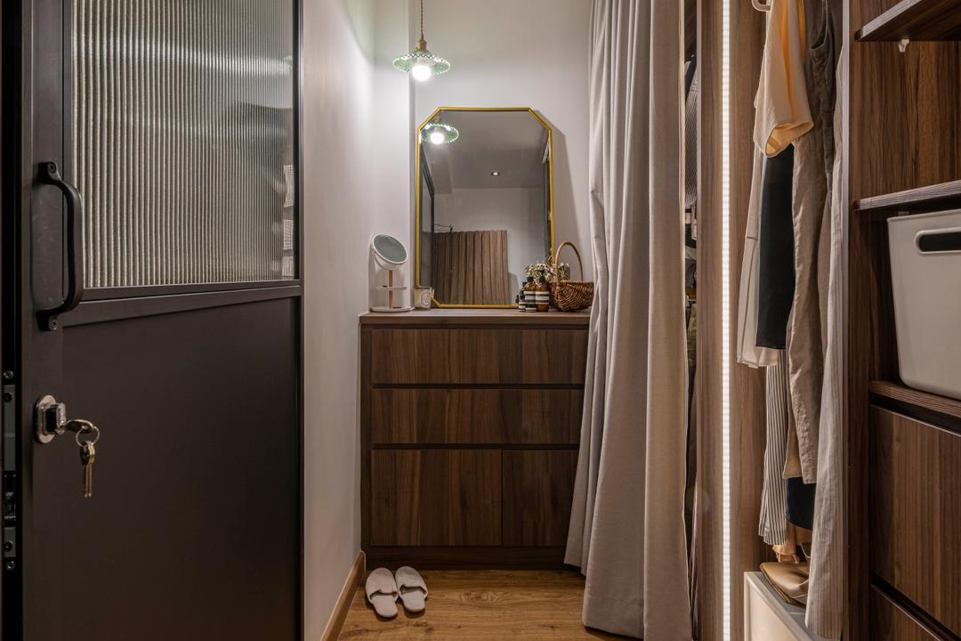 Lim Liak Street, Voila, Minimalistic, Bedroom, HDB, Vanity, Powder Room, Wardrobe, Walk In Wardrobe