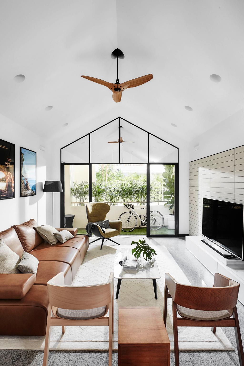 Scandinavian, Condo, Living Room, The Tropic Gardens, Interior Designer, akiHAUS, High Ceiling, Penthouse