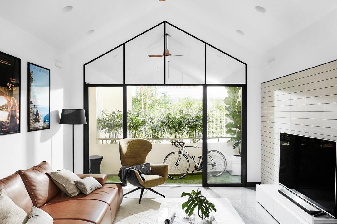 The Tropic Gardens, akiHAUS, Scandinavian, Living Room, Condo, High Ceiling, Penthouse