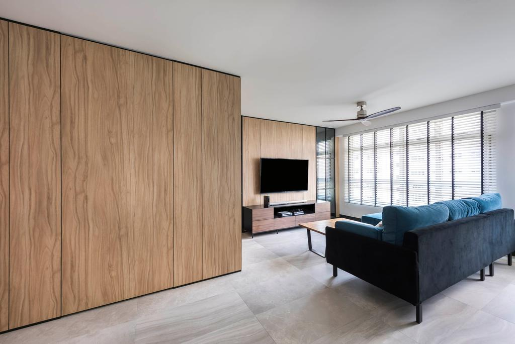 Contemporary, HDB, Living Room, Rivervale Crescent, Interior Designer, akiHAUS