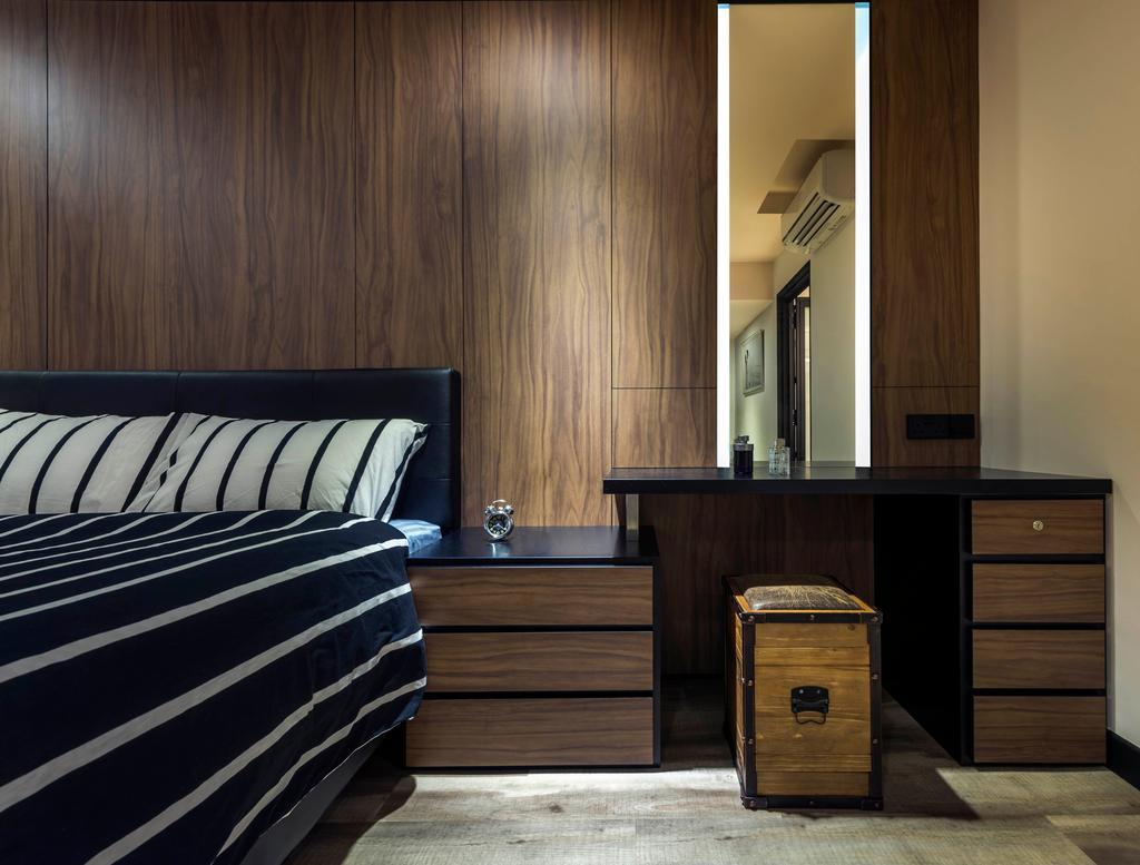 Contemporary, HDB, Bedroom, Rivervale Crescent, Interior Designer, akiHAUS