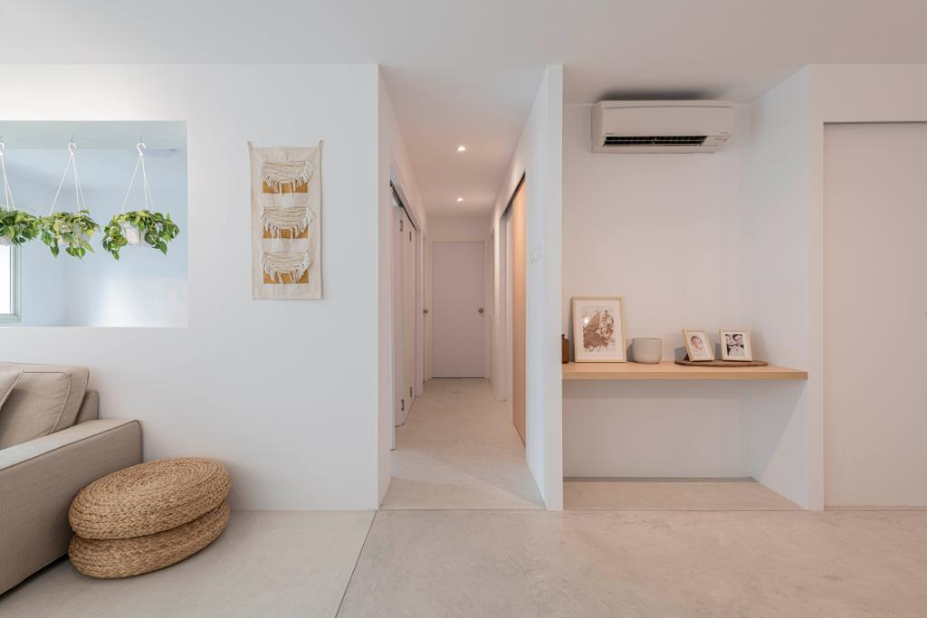 Scandinavian, HDB, Living Room, Punggol Central, Interior Designer, Butler Interior, Minimalistic, Industrial, Hallway, Corridor