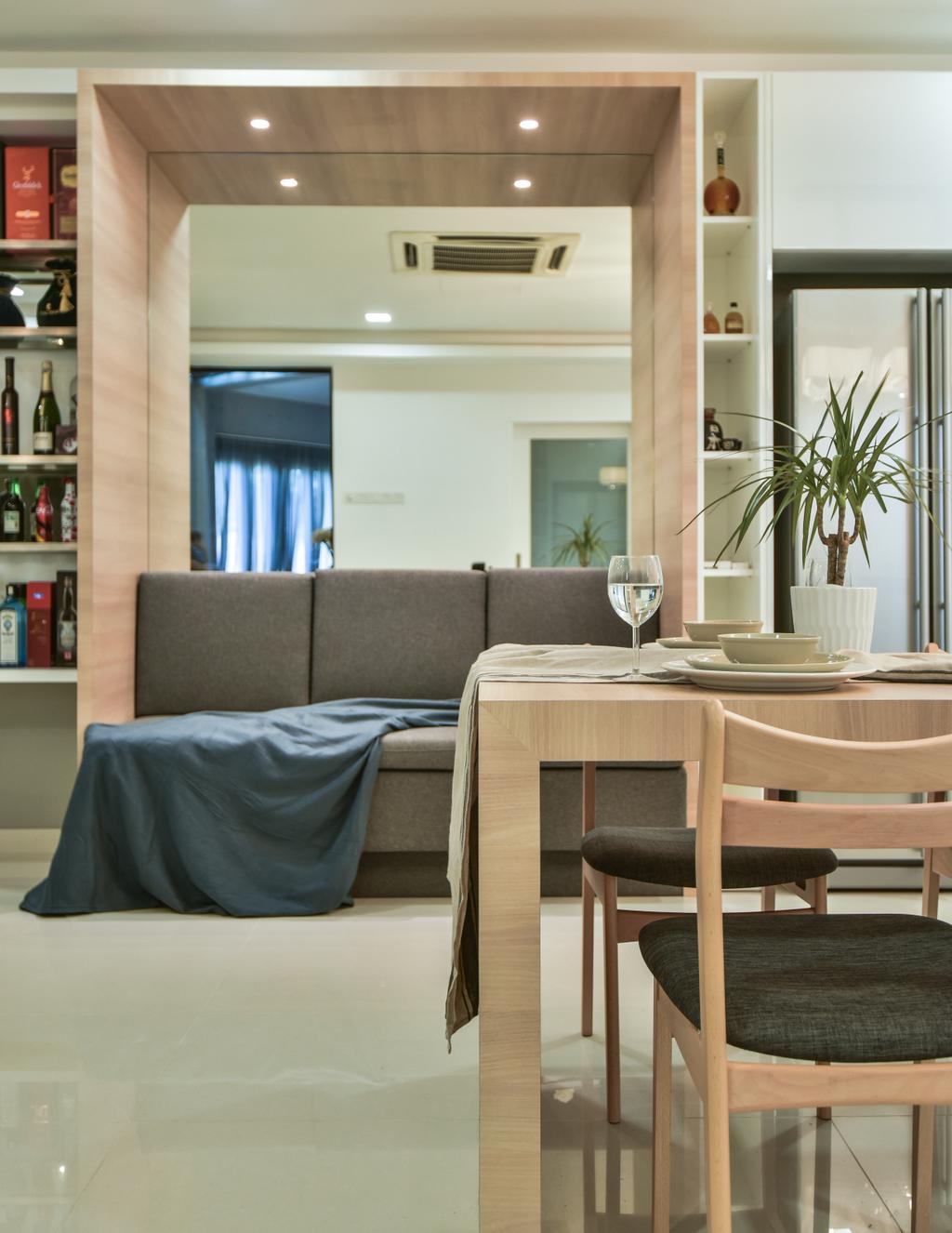 Modern, Landed, Living Room, Setia Damai, Setia Alam, Interior Designer, Cube Creation Sdn. Bhd., Contemporary
