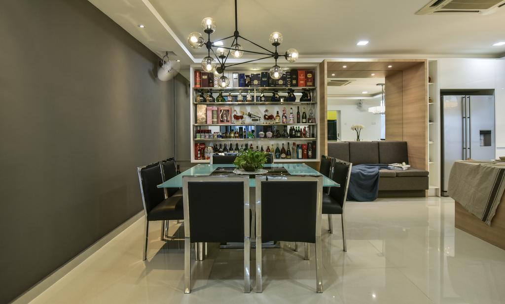 Modern, Landed, Dining Room, Setia Damai, Setia Alam, Interior Designer, Cube Creation Sdn. Bhd., Contemporary