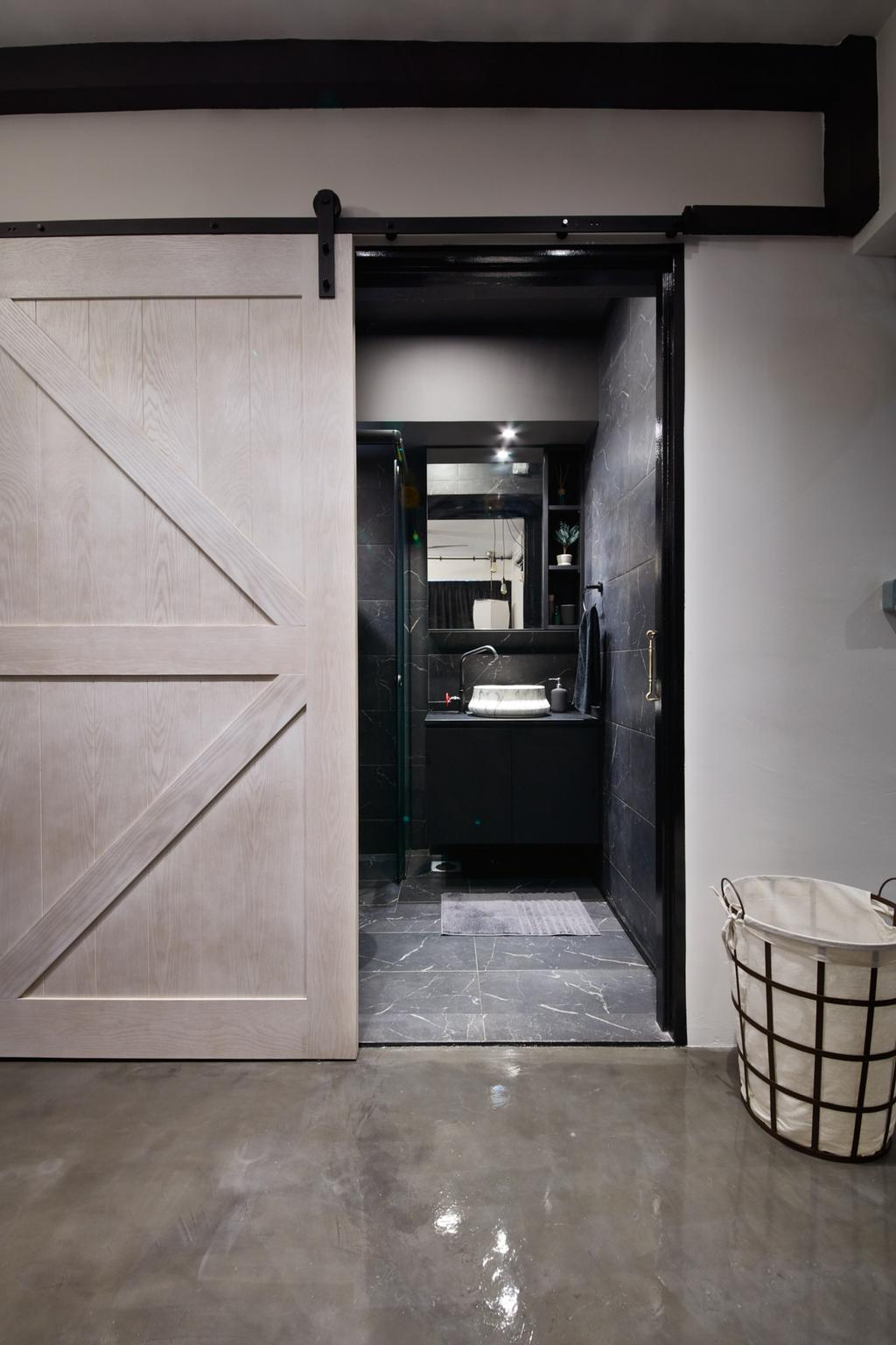 Industrial, HDB, Bathroom, Clementi Avenue 3, Interior Designer, Free Space Intent