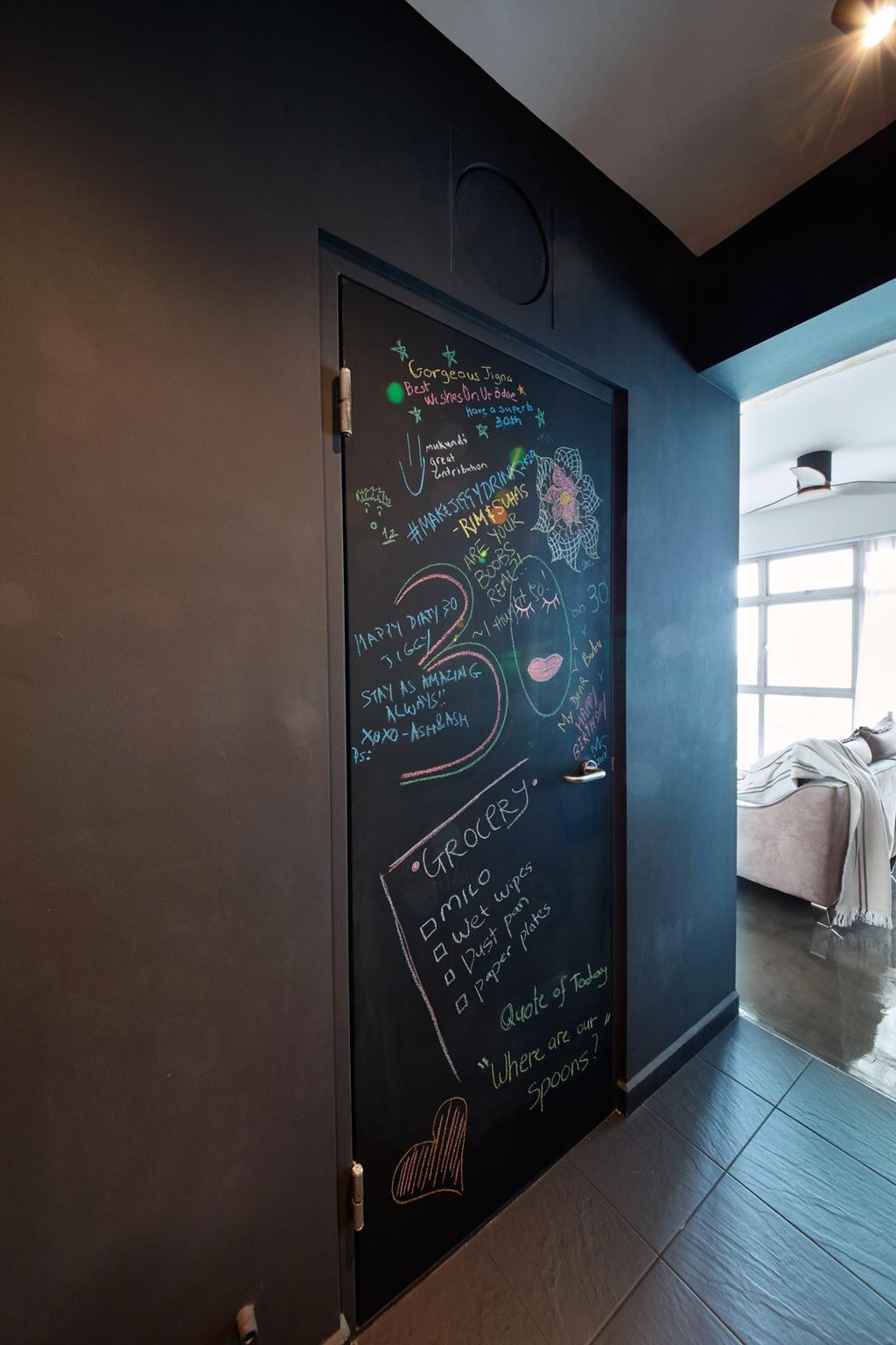 Industrial, HDB, Bedroom, Clementi Avenue 3, Interior Designer, Free Space Intent
