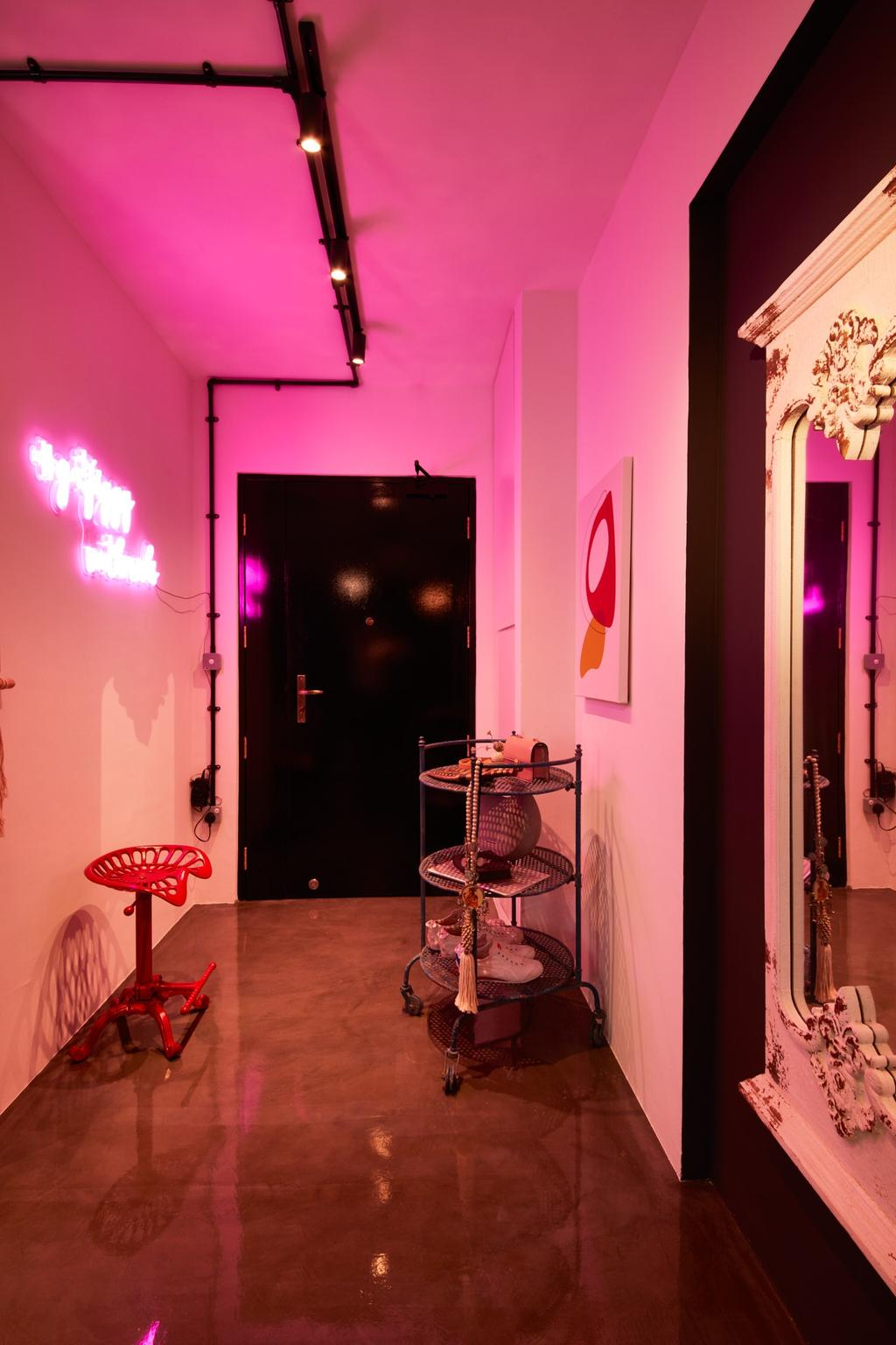 Industrial, HDB, Clementi Avenue 3, Interior Designer, Free Space Intent