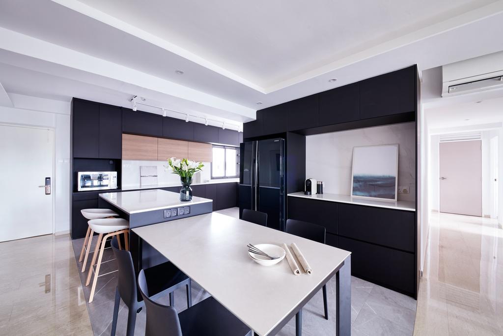 Scandinavian, HDB, Dining Room, Tah Ching Road, Interior Designer, Free Space Intent, Contemporary