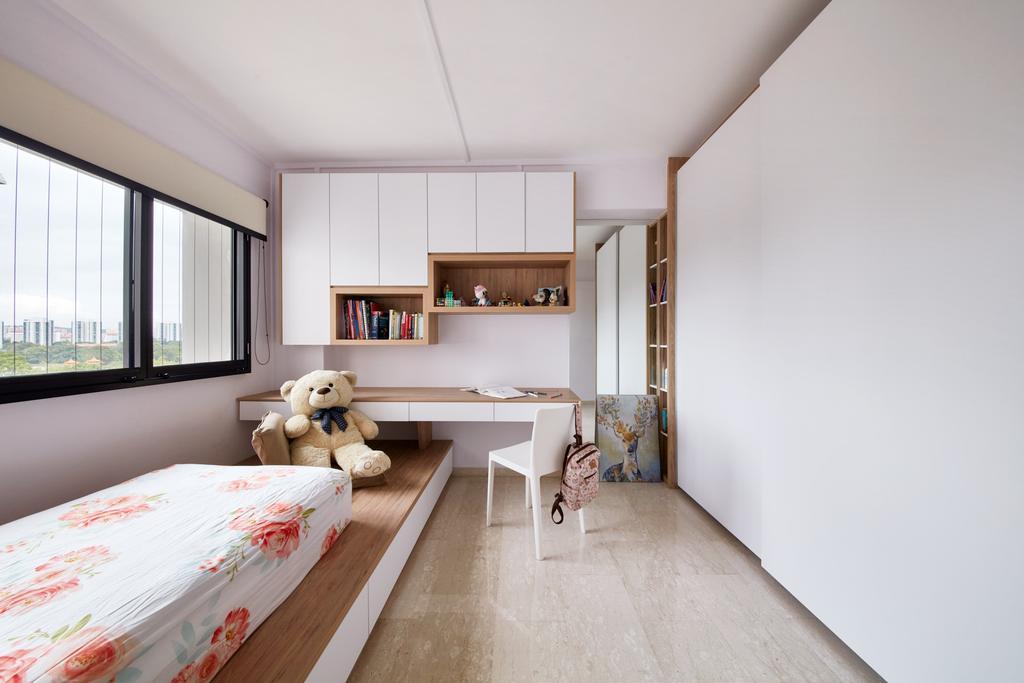 Scandinavian, HDB, Bedroom, Tah Ching Road, Interior Designer, Free Space Intent, Contemporary