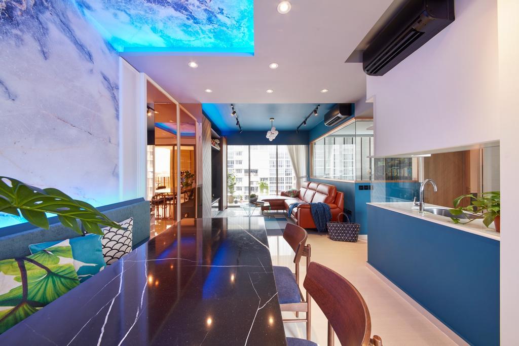 Eclectic, Condo, Dining Room, Choa Chu Kang Grove, Interior Designer, Free Space Intent, Contemporary