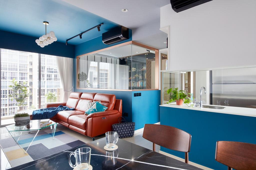 Eclectic, Condo, Living Room, Choa Chu Kang Grove, Interior Designer, Free Space Intent, Contemporary
