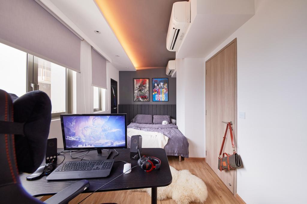 Eclectic, Condo, Bedroom, Choa Chu Kang Grove, Interior Designer, Free Space Intent, Contemporary