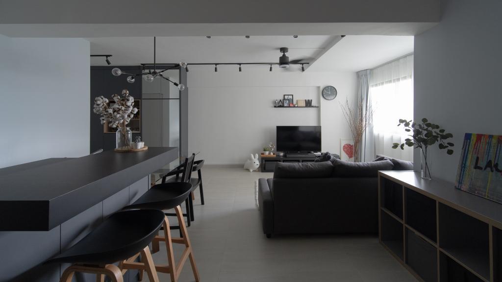 Industrial, HDB, Dining Room, Cassia Crescent, Interior Designer, Arche Interior, Scandinavian