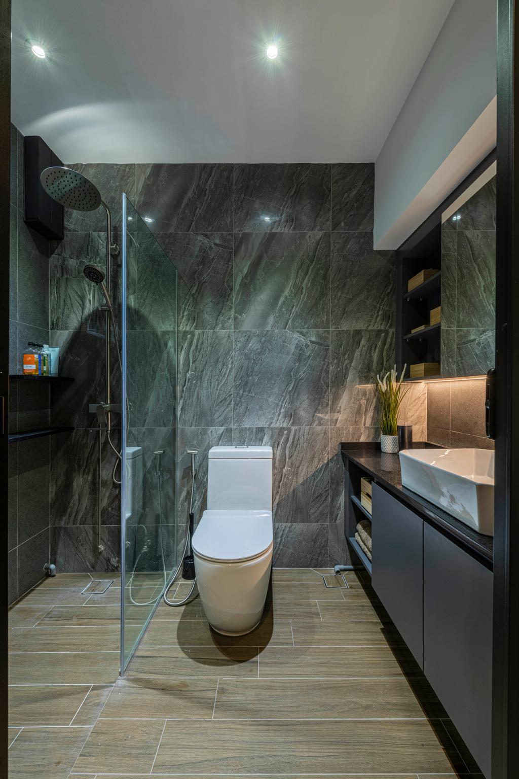 Modern, HDB, Bathroom, Choa Chu Kang Crescent, Interior Designer, Fifth Avenue Interior, Contemporary