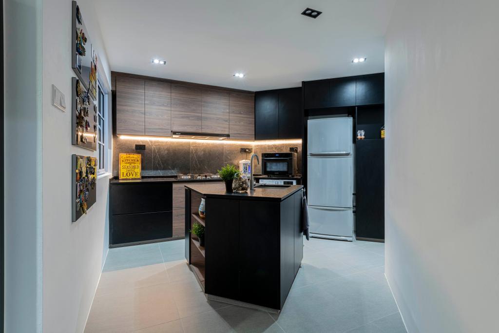 Modern, HDB, Kitchen, Choa Chu Kang Crescent, Interior Designer, Fifth Avenue Interior, Contemporary