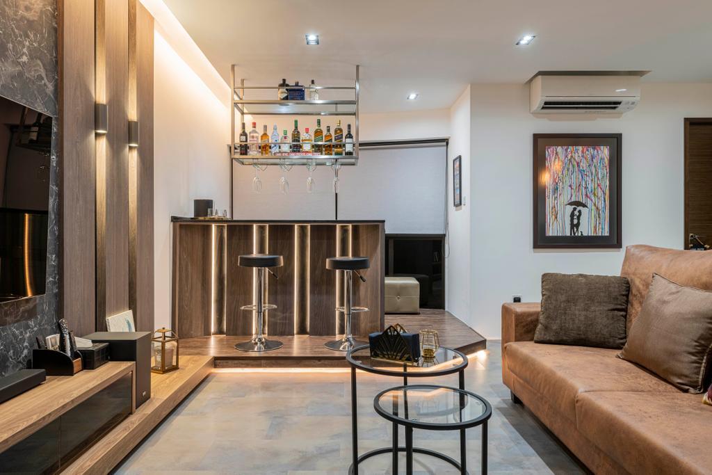 Modern, HDB, Living Room, Choa Chu Kang Crescent, Interior Designer, Fifth Avenue Interior, Contemporary