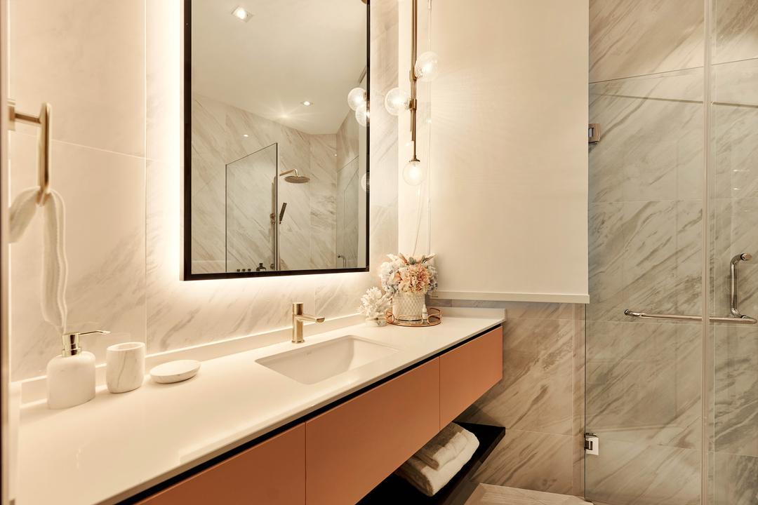 Avalon, Mr Shopper Studio, Contemporary, Bathroom, Condo, Marble