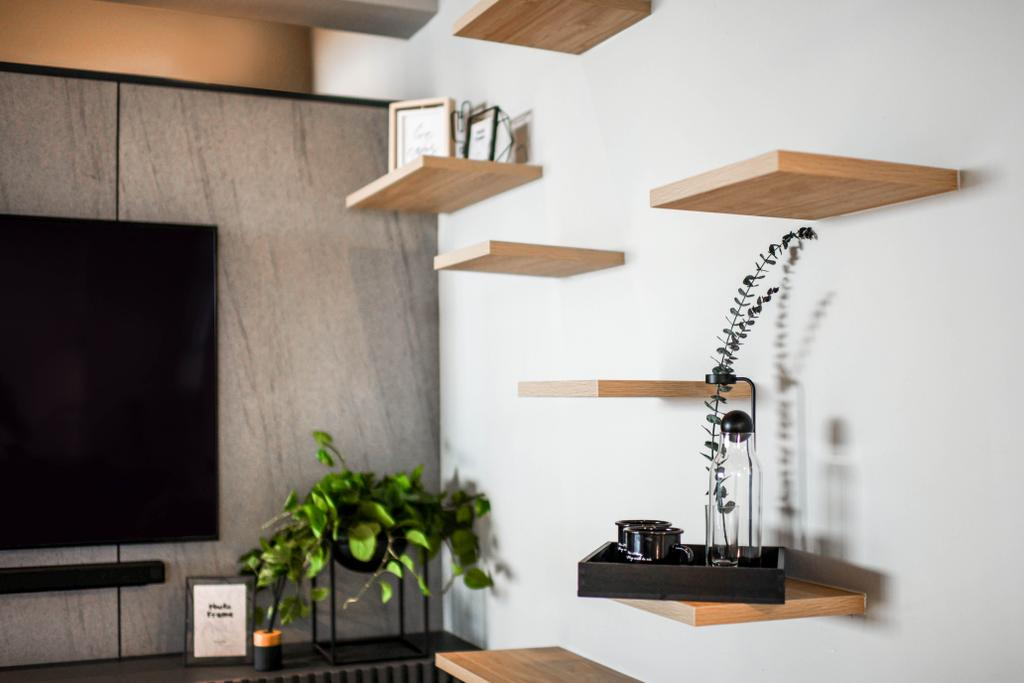 Industrial, HDB, Living Room, Jurong East Street 21, Interior Designer, Mr Shopper Studio, Scandinavian