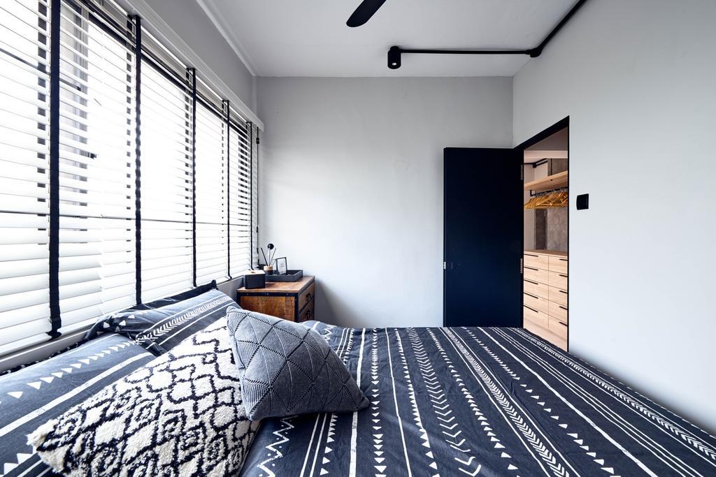 Industrial, HDB, Bedroom, Jurong East Street 21, Interior Designer, Mr Shopper Studio, Scandinavian