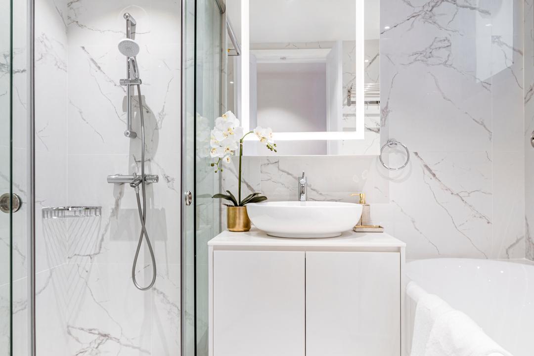 Principal Garden, Mr Shopper Studio, Modern, Contemporary, Bathroom, Condo, Marble