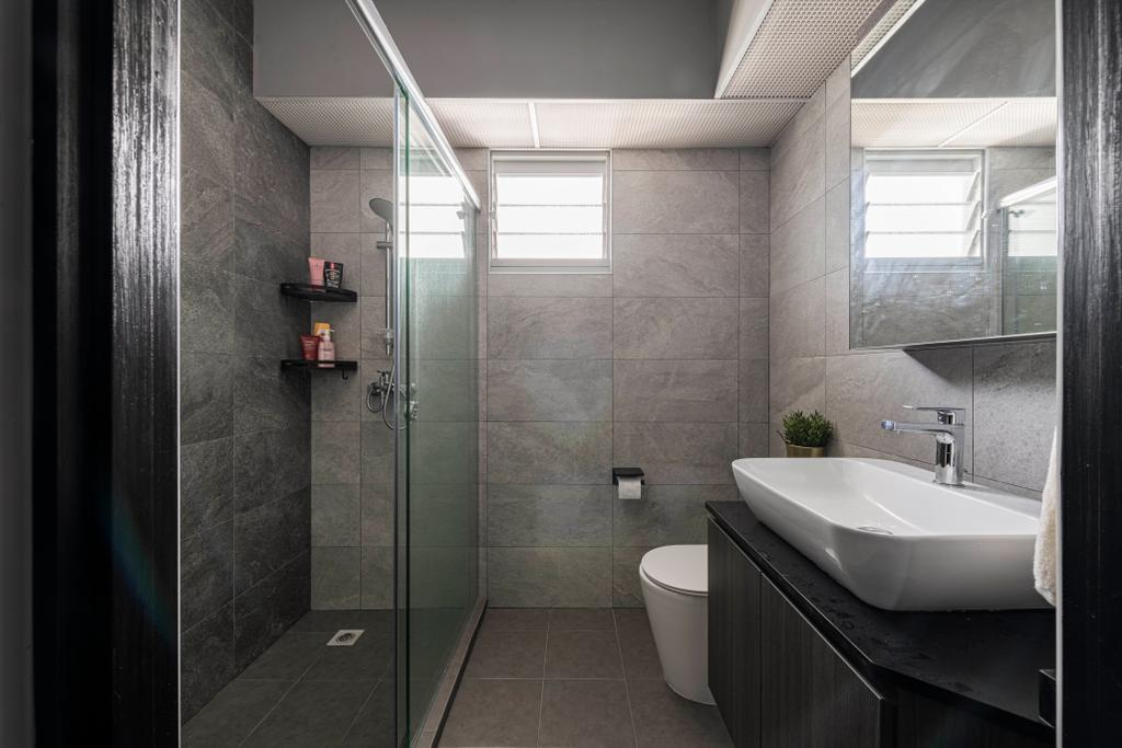 Contemporary, HDB, Bathroom, Bidadari Park Drive, Interior Designer, Regiis Design