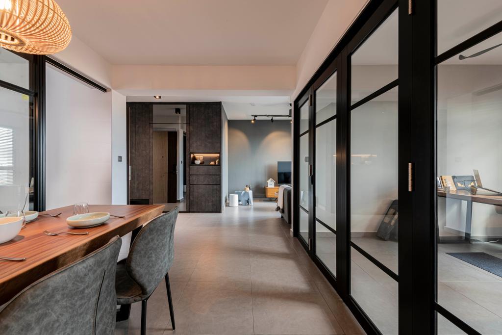 Contemporary, HDB, Dining Room, Bidadari Park Drive, Interior Designer, Regiis Design