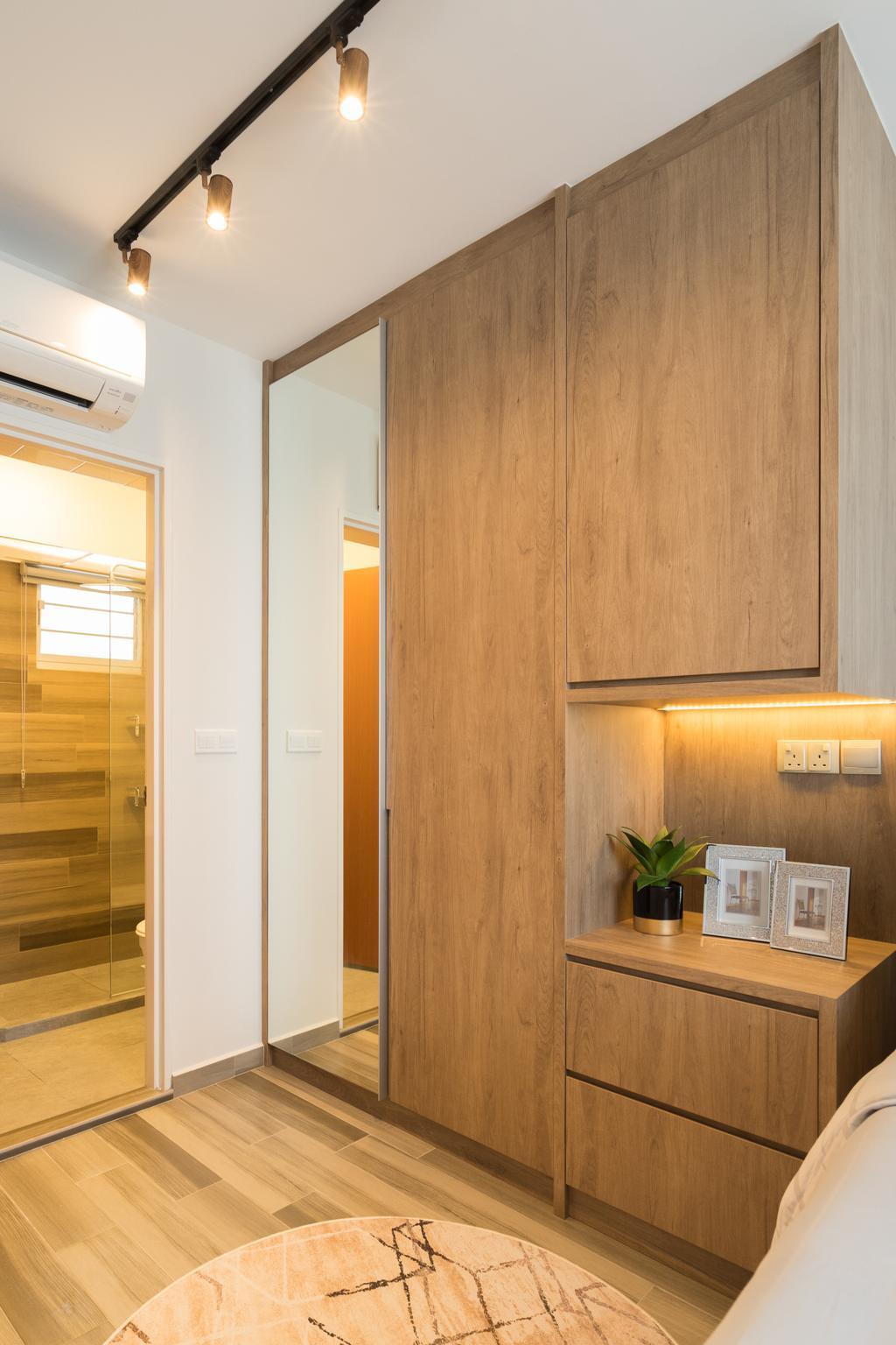 Contemporary, HDB, Bedroom, Circuit Road, Interior Designer, The Makers Design Studio, Modern
