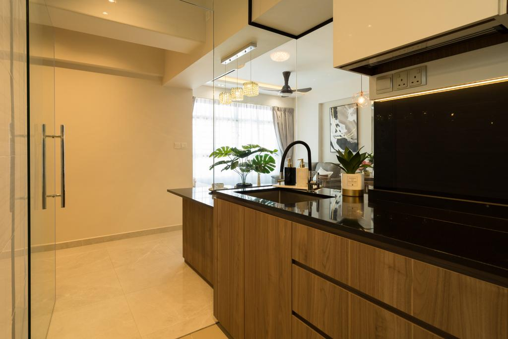 Contemporary, HDB, Kitchen, Circuit Road, Interior Designer, The Makers Design Studio, Modern