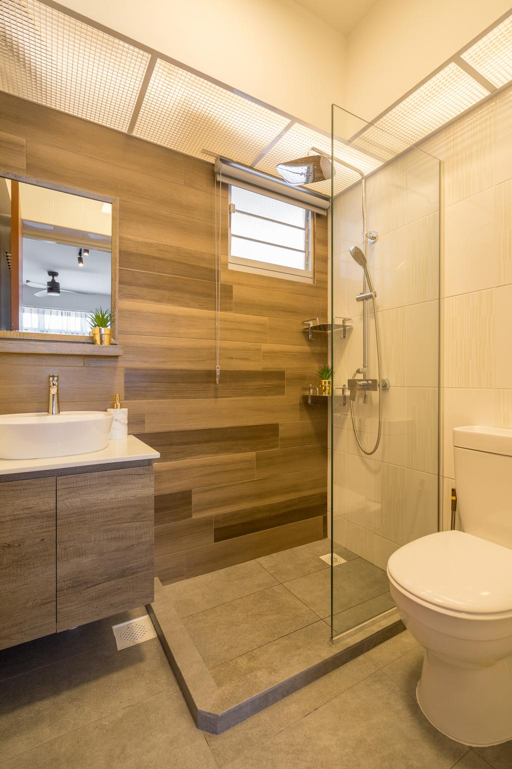 Contemporary, HDB, Bathroom, Circuit Road, Interior Designer, The Makers Design Studio, Modern