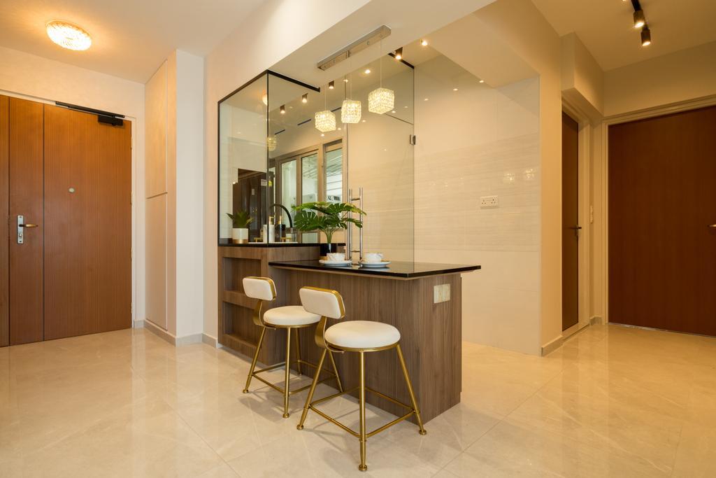 Contemporary, HDB, Dining Room, Circuit Road, Interior Designer, The Makers Design Studio, Modern