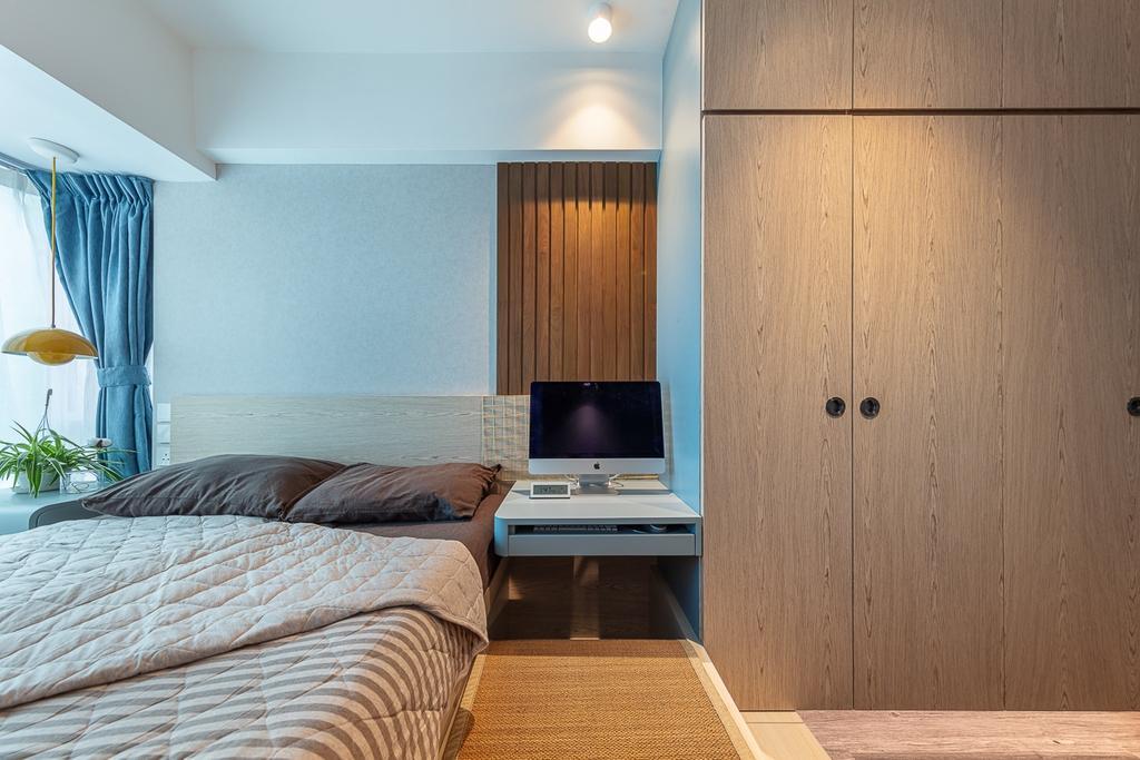傳統, 私家樓, 睡房, 緻藍天, 室內設計師, am PLUS