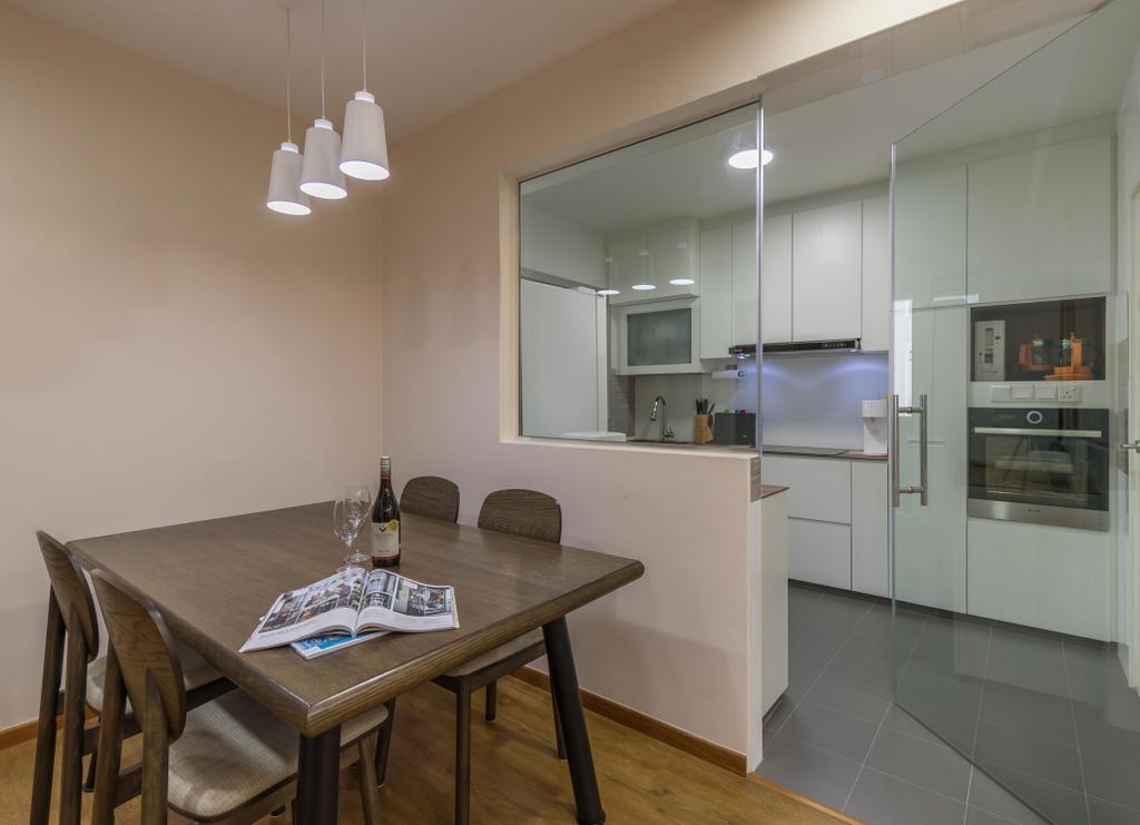 HDB, Dining Room, Anchorvale Crescent, Interior Designer, Swiss Interior Design