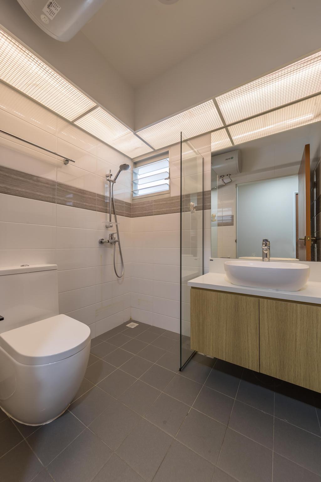 HDB, Bathroom, Anchorvale Crescent, Interior Designer, Swiss Interior Design