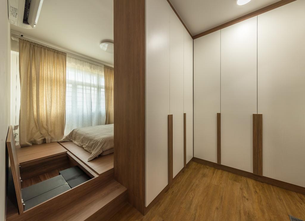 HDB, Bedroom, Anchorvale Crescent, Interior Designer, Swiss Interior Design