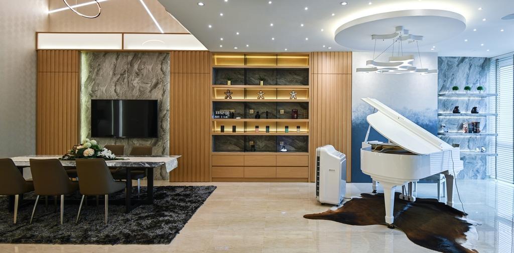 Modern, Condo, Sunway Vivaldi, Mont Kiara, Interior Designer, Design Aid Sdn. Bhd.