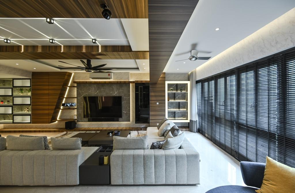 Modern, Condo, Living Room, Seni, Mont Kiara, Interior Designer, Design Aid Sdn. Bhd., Contemporary