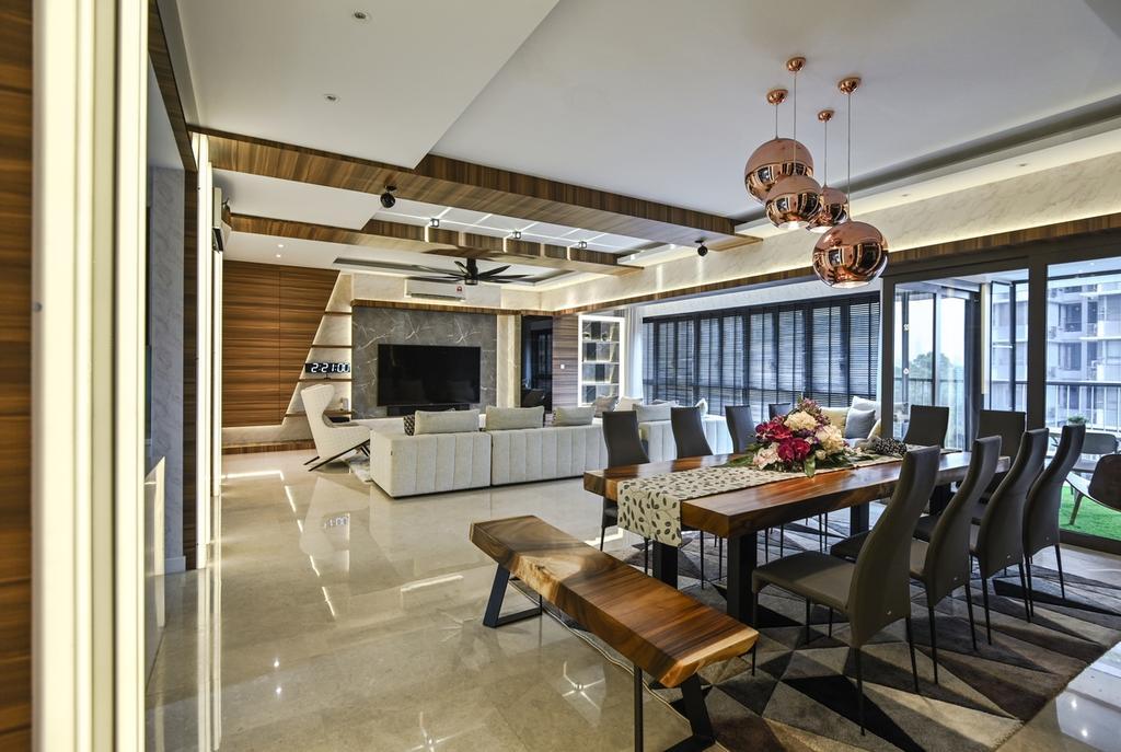 Modern, Condo, Dining Room, Seni, Mont Kiara, Interior Designer, Design Aid Sdn. Bhd., Contemporary
