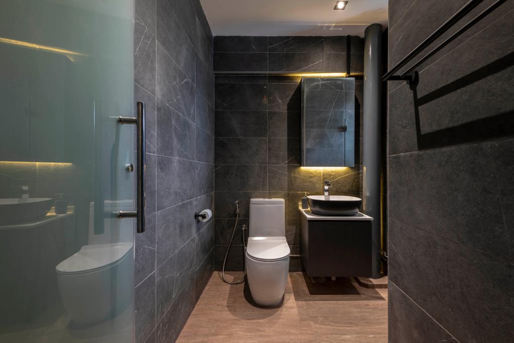 Contemporary, HDB, Bathroom, Ubi Avenue 1, Interior Designer, Third Paragraph
